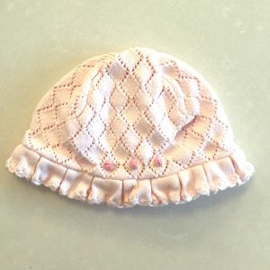 EUC Janie and Jack Pink Knit Baby Bucket Hat